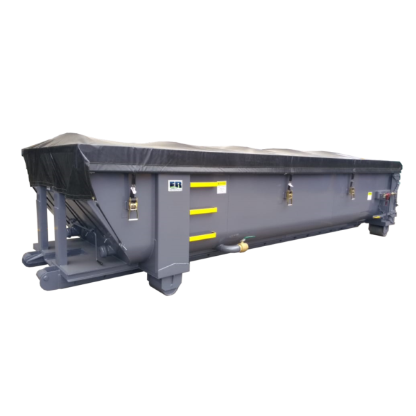 Dewatering Container with Tarp